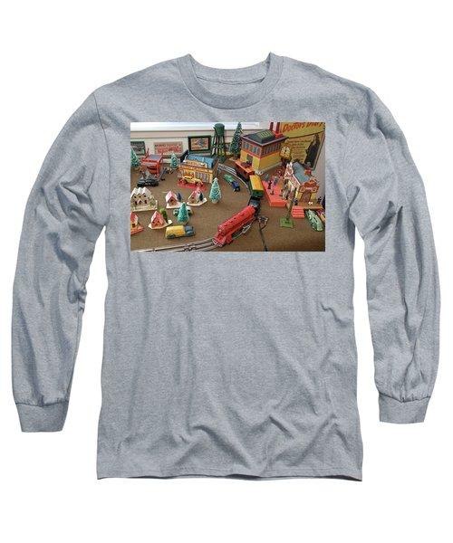 Toytown - Train Set Overview Long Sleeve T-Shirt