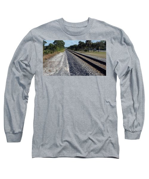 Tracks Hobe Sound, Fl Long Sleeve T-Shirt by John Wartman
