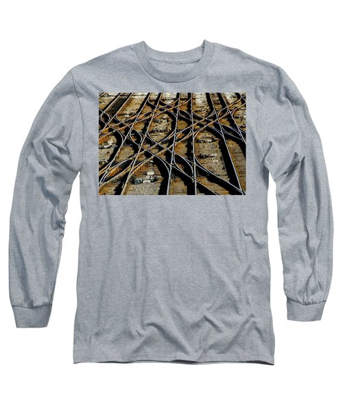 Tracks Of Abandon Long Sleeve T-Shirt by Michael Nowotny