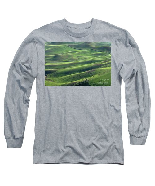 Tractor Tracks Agriculture Art By Kaylyn Franks Long Sleeve T-Shirt
