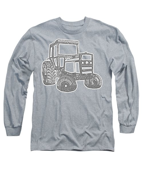 Tractor Transparent Long Sleeve T-Shirt