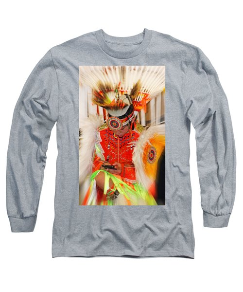 Tradition Meets Technology Long Sleeve T-Shirt by Audrey Robillard
