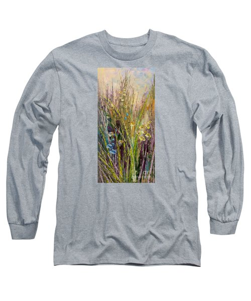 Long Sleeve T-Shirt featuring the painting Trail Of Beauty by Tatiana Iliina