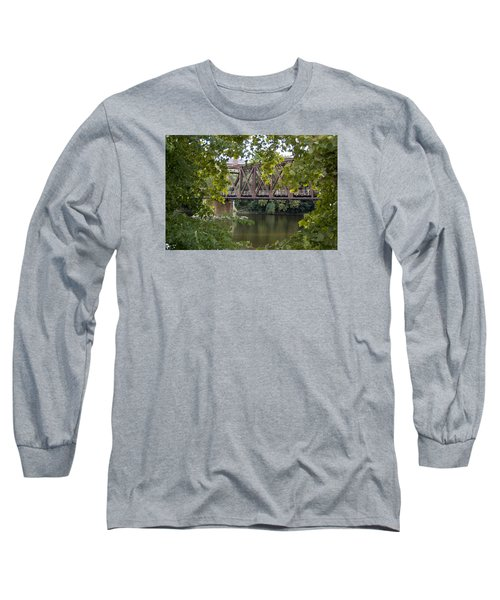 Long Sleeve T-Shirt featuring the photograph Train Trestle by Michael Dorn
