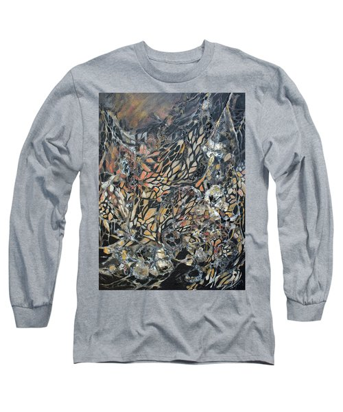 Long Sleeve T-Shirt featuring the mixed media Transformation by Joanne Smoley