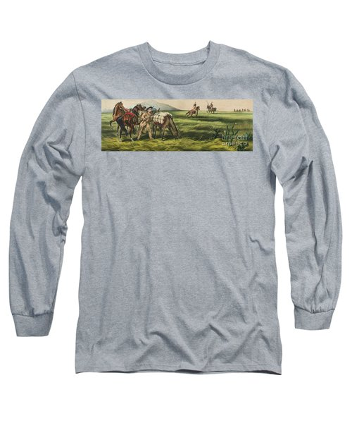 Trappers On The Prairie  Peace Or War Long Sleeve T-Shirt