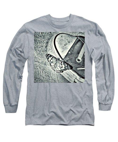 Tread Lightly  Long Sleeve T-Shirt by Leah McPhail