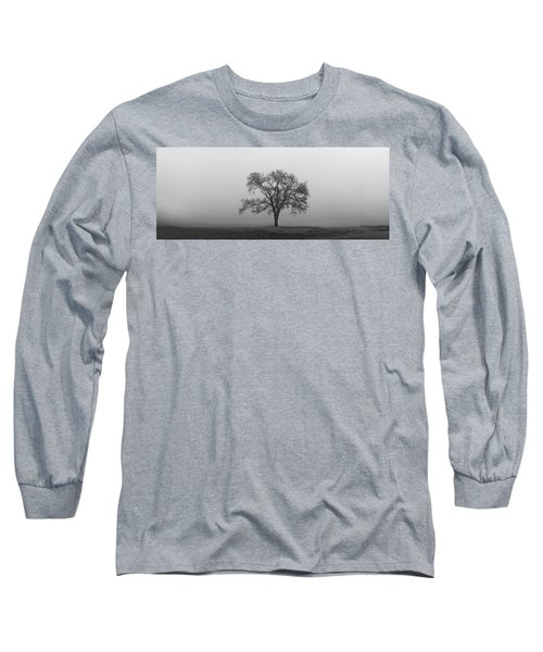 Tree Alone In The Fog Long Sleeve T-Shirt
