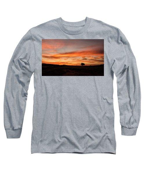 Tree At Sunrise Long Sleeve T-Shirt