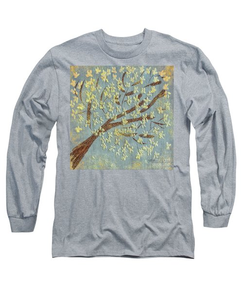 Long Sleeve T-Shirt featuring the digital art Tree Blossoms by Lois Bryan