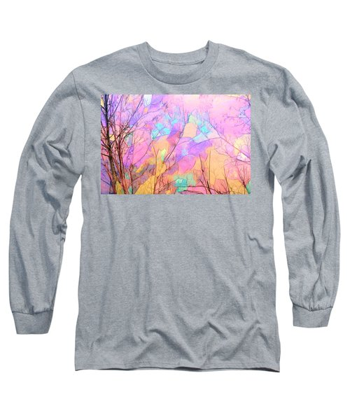Long Sleeve T-Shirt featuring the photograph Tree Dance by Kathy Bassett
