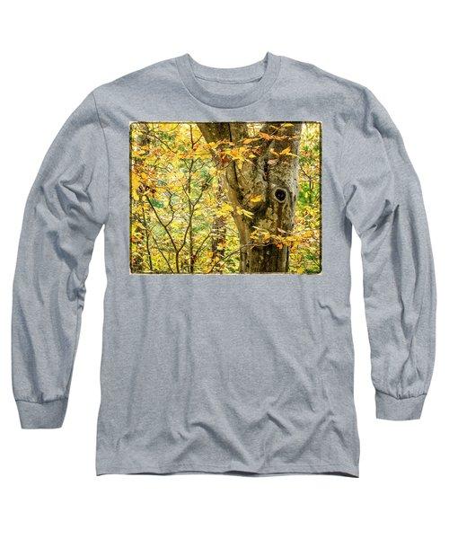 Tree Hollow Long Sleeve T-Shirt
