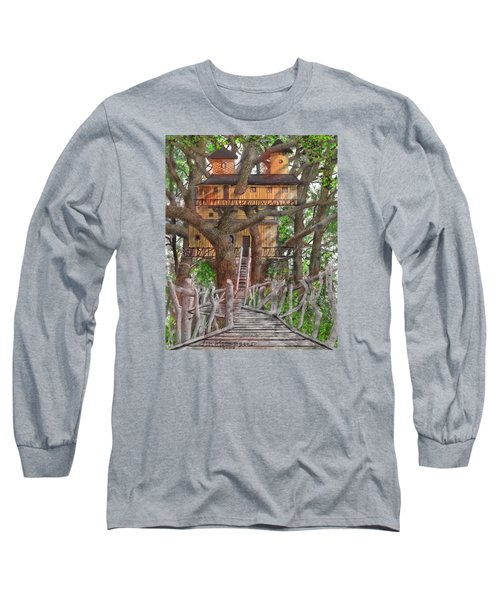 Tree House #6 Long Sleeve T-Shirt by Jim Hubbard