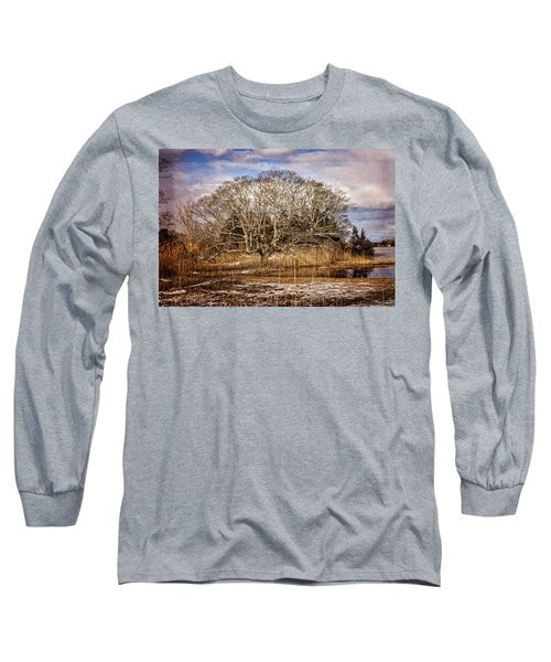 Tree In Marsh Long Sleeve T-Shirt
