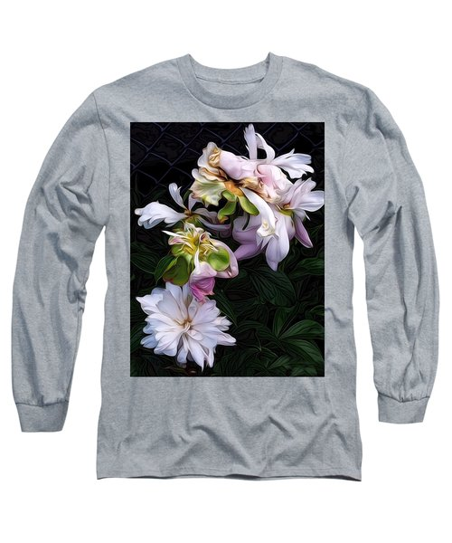 Tree Peony Long Sleeve T-Shirt by Alexis Rotella