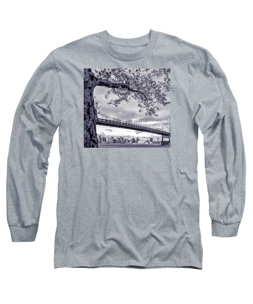 Tree With A Bridge Long Sleeve T-Shirt