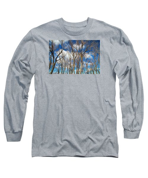 Long Sleeve T-Shirt featuring the photograph Trees And Clouds by Valentino Visentini