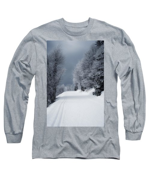 Trees Hills And Snow Long Sleeve T-Shirt