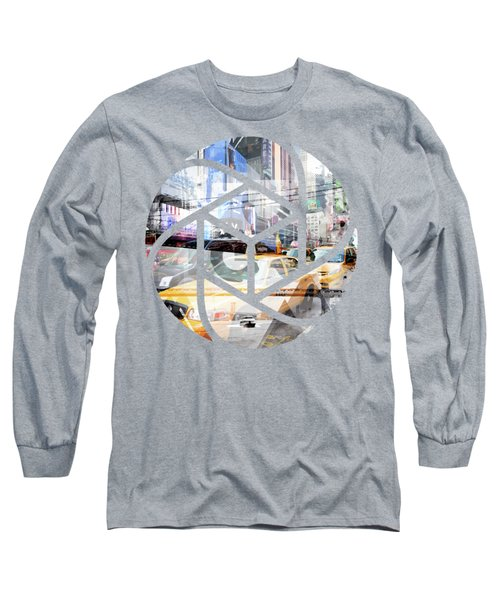 Trendy Design Nyc Geometric Mix No 9 Long Sleeve T-Shirt by Melanie Viola