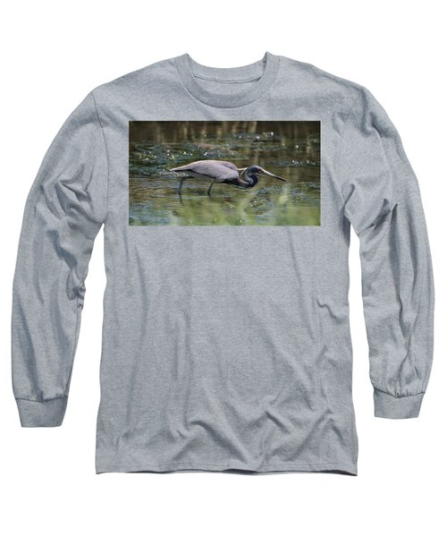 Tri Color Heron Hunting Long Sleeve T-Shirt