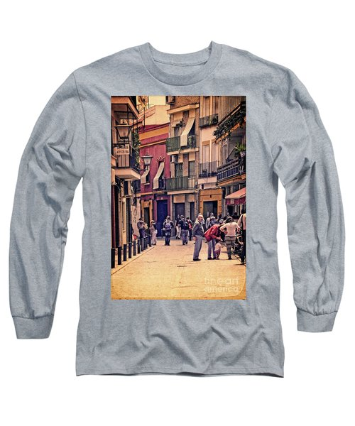 Long Sleeve T-Shirt featuring the photograph Triana On A Sunday Afternoon 2 by Mary Machare