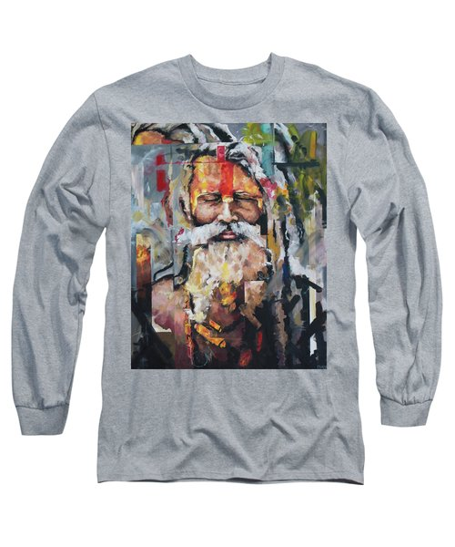 Tribal Chief Sadhu Long Sleeve T-Shirt by Richard Day