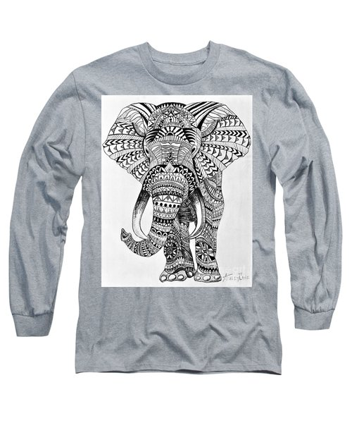 Tribal Elephant Long Sleeve T-Shirt