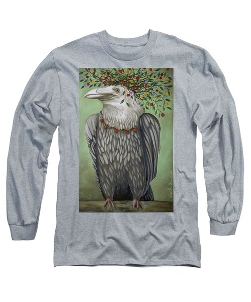 Long Sleeve T-Shirt featuring the painting Tribal Nature by Leah Saulnier The Painting Maniac