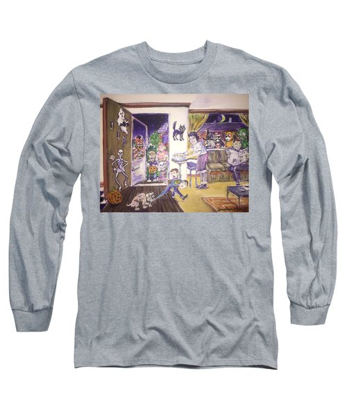 Trick Or Treat On Exeter Street Long Sleeve T-Shirt