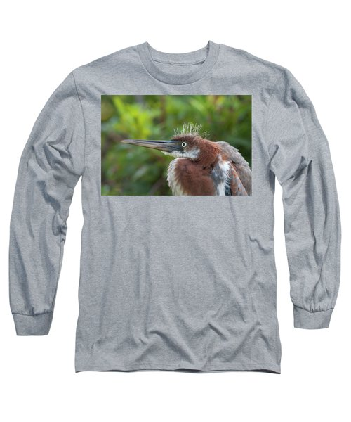Tricolored Heron - Bad Hair Day Long Sleeve T-Shirt