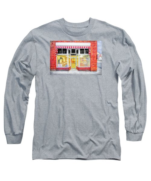 Long Sleeve T-Shirt featuring the photograph Trim Barber Shop by Marion Johnson