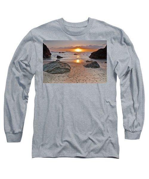 Trinidad State Beach Sunset Long Sleeve T-Shirt