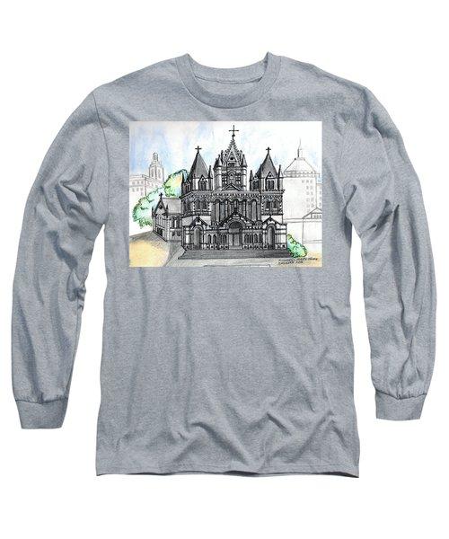 Trinity Church Boston Long Sleeve T-Shirt by Paul Meinerth