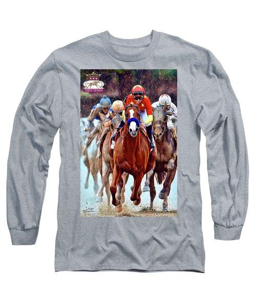Triple Crown Winner Justify 2 Long Sleeve T-Shirt