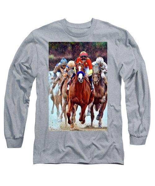 Triple Crown Winner Justify Long Sleeve T-Shirt