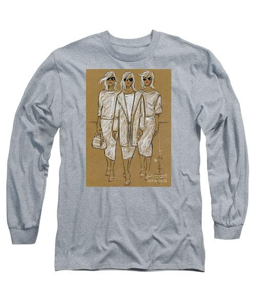 Triplets Long Sleeve T-Shirt by P J Lewis