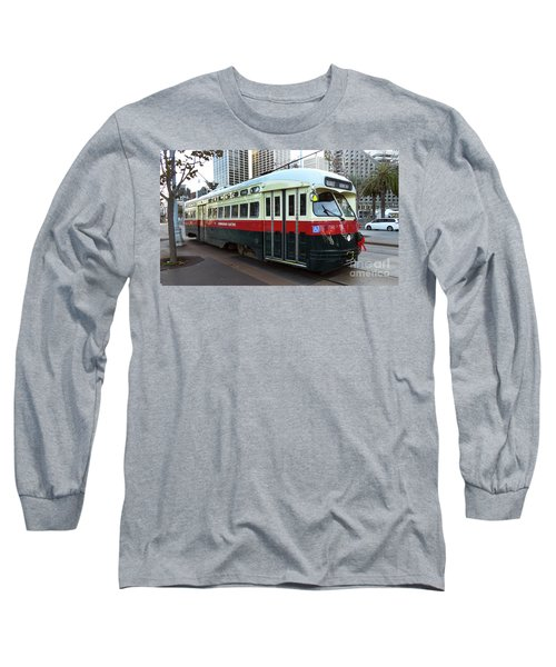 Long Sleeve T-Shirt featuring the photograph Trolley Number 1077 by Steven Spak