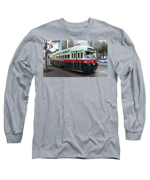 Trolley Number 1077 Long Sleeve T-Shirt by Steven Spak