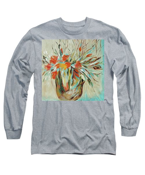 Long Sleeve T-Shirt featuring the painting Tropical Arrangement by Joanne Smoley