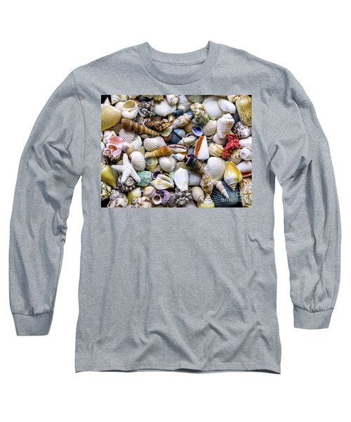Tropical Beach Seashell Treasures 1500a Long Sleeve T-Shirt