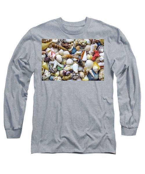 Tropical Beach Seashell Treasures 1529b Long Sleeve T-Shirt