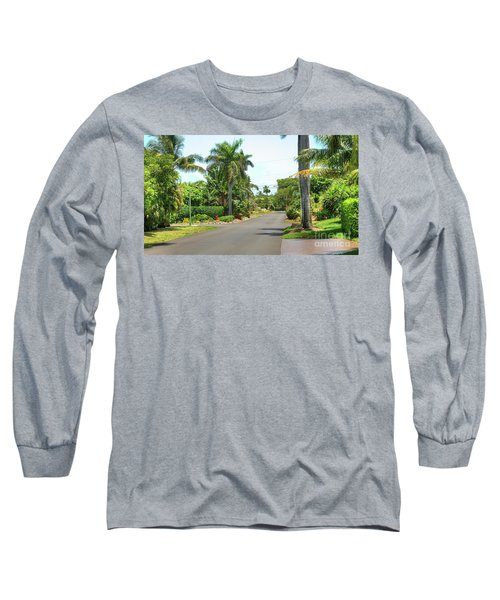 Tropical Feel Residential Street Long Sleeve T-Shirt