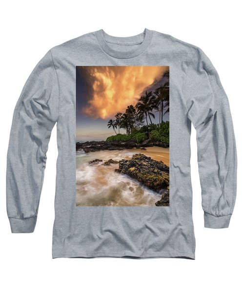 Tropical Nuclear Sunrise Long Sleeve T-Shirt by Pierre Leclerc Photography