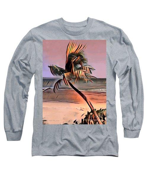 Tropical Seascape Digital Art E7717l Long Sleeve T-Shirt