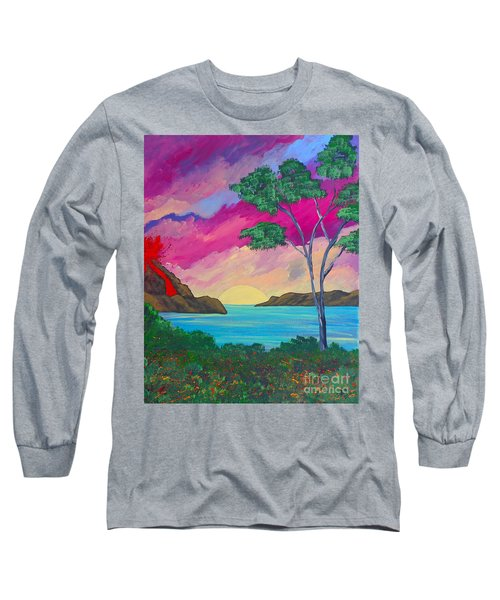 Tropical Volcano Long Sleeve T-Shirt