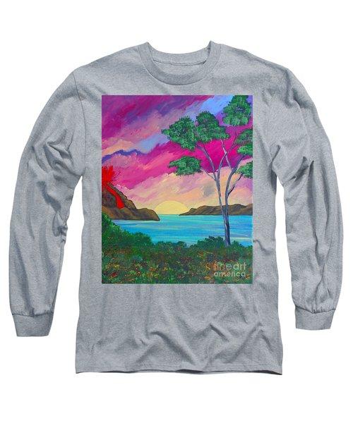 Tropical Volcano Long Sleeve T-Shirt