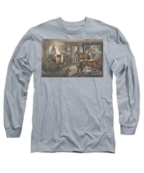 Trotting Cracks At The Forge Long Sleeve T-Shirt
