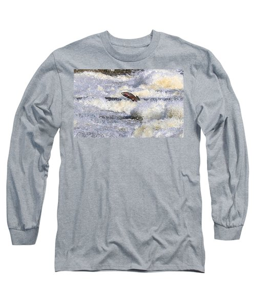 Long Sleeve T-Shirt featuring the digital art Trout by Robert Pearson