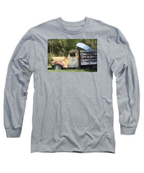 Long Sleeve T-Shirt featuring the photograph Truck And Canoe by Donna G Smith