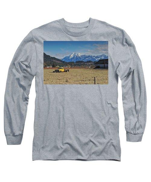 Truck In Harison Mills Long Sleeve T-Shirt